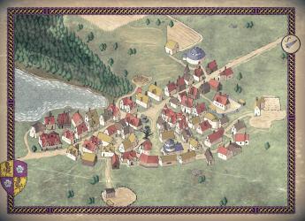 Art] Amphail Village Map : DnD
