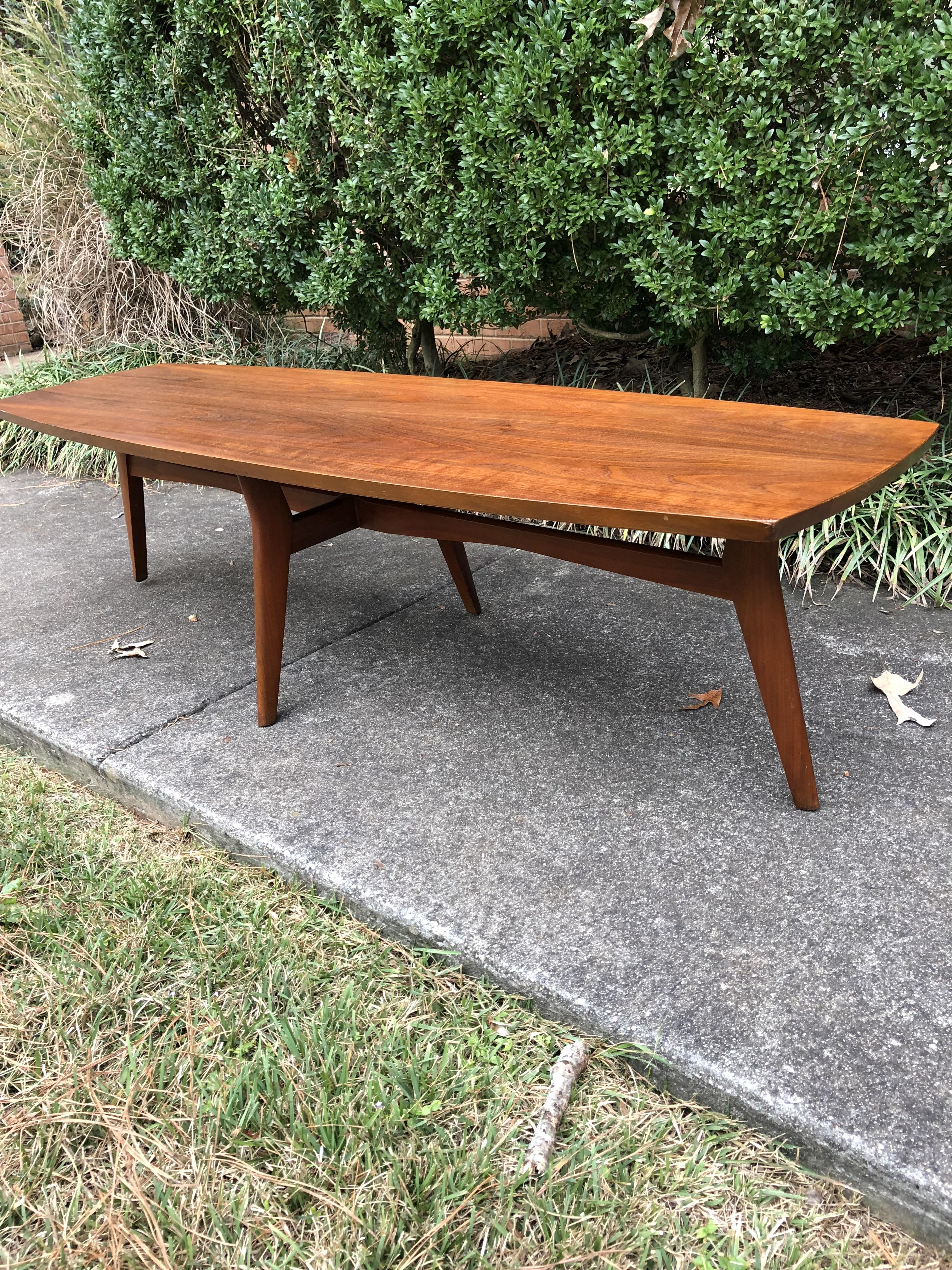 my early 60 s walnut coffee table by