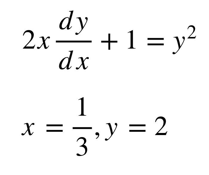 Hi, could you please help me solve this differential