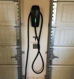 just received and installed the tesla wall charger from the referral wiring garage for tesla [ 3024 x 4032 Pixel ]