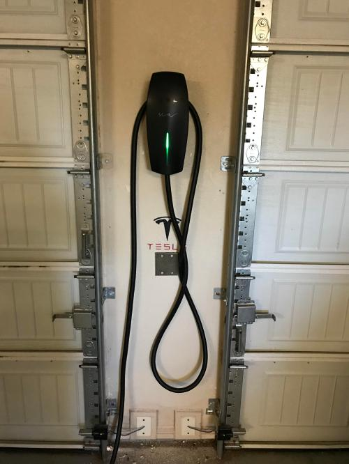 small resolution of just received and installed the tesla wall charger from the referral wiring garage for tesla