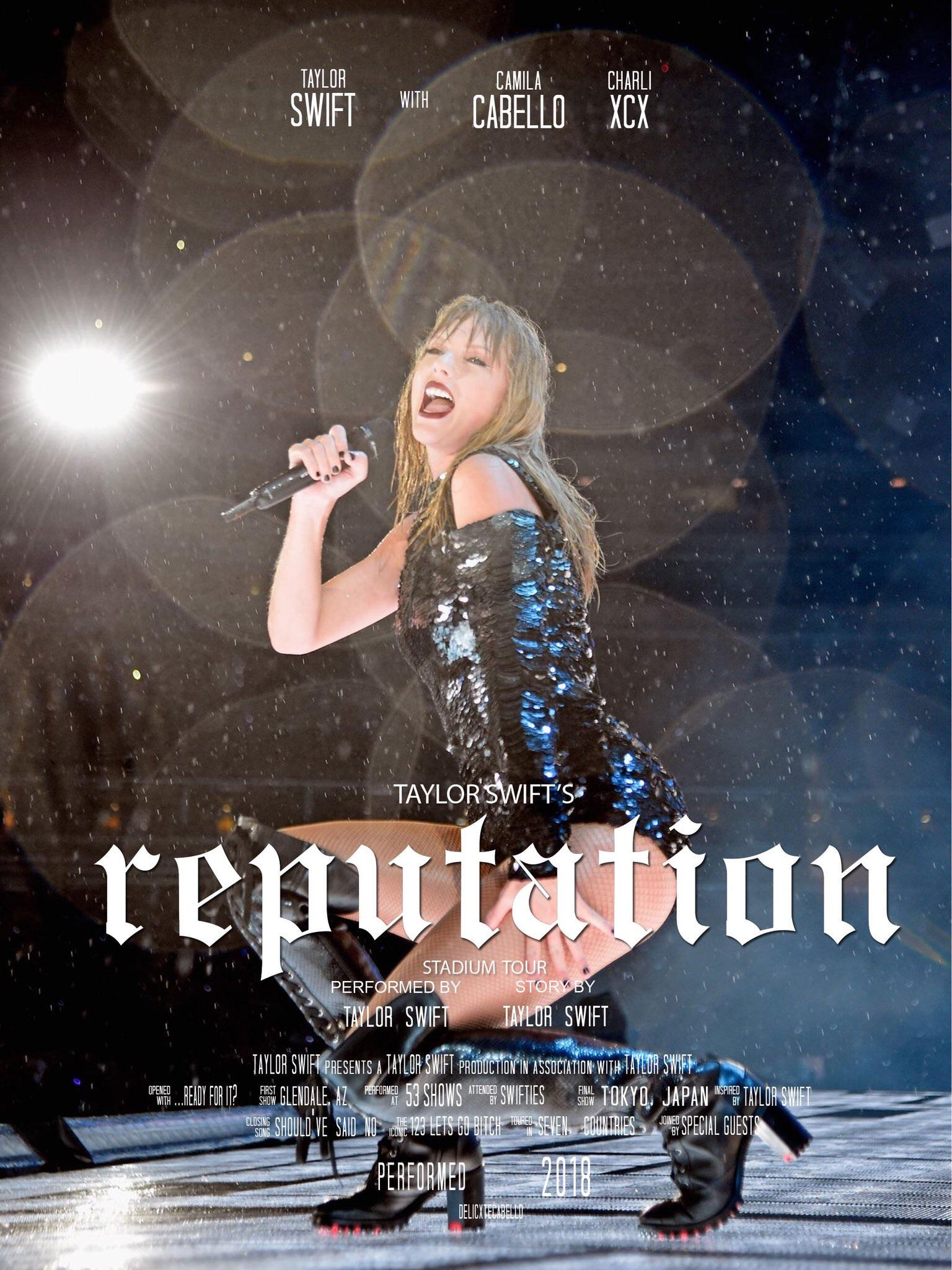 taylor tours as movie posters a series