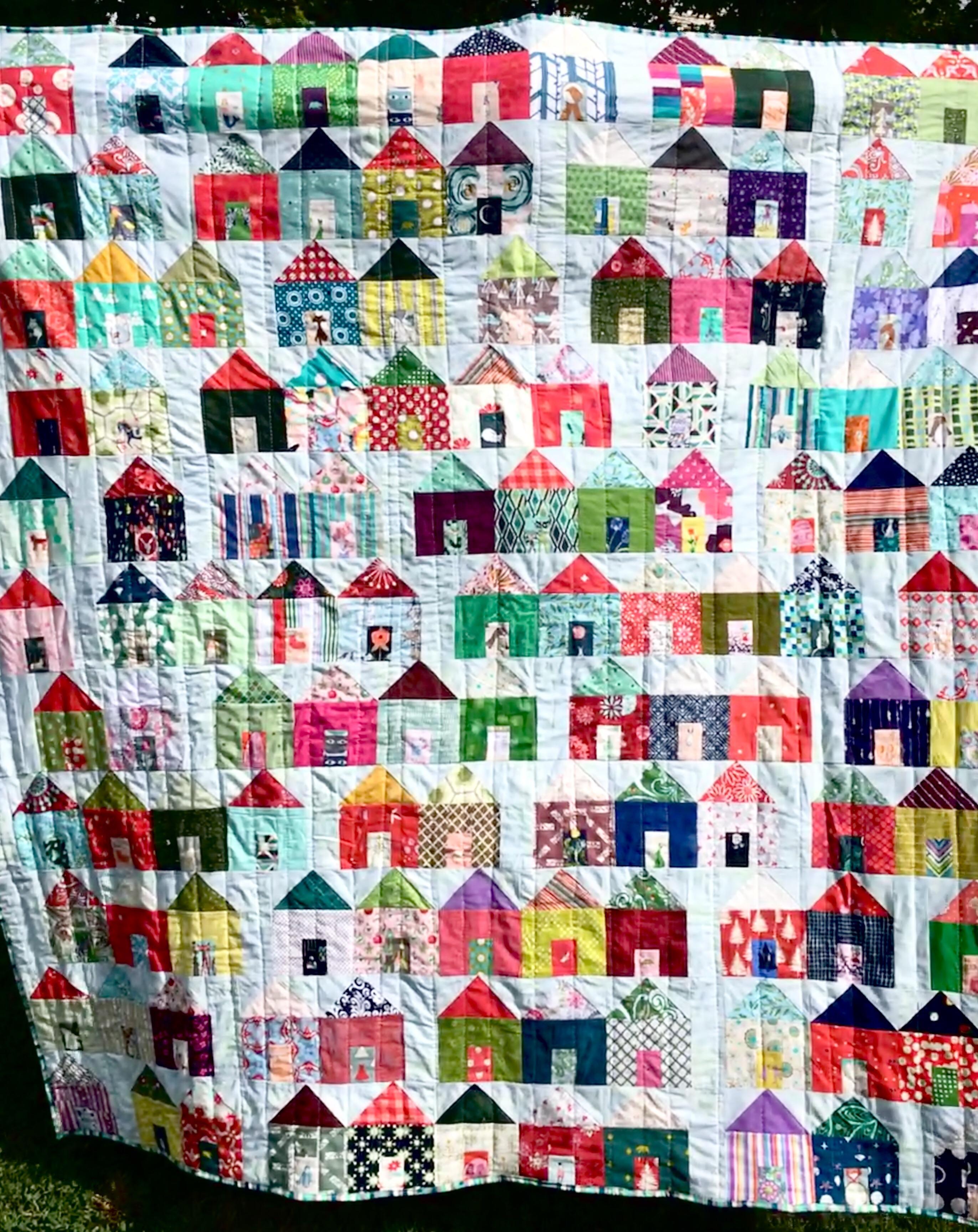 Tiny Houses Quilt Pattern : houses, quilt, pattern, Little, Houses, Quilt, Pattern, Burnsocial