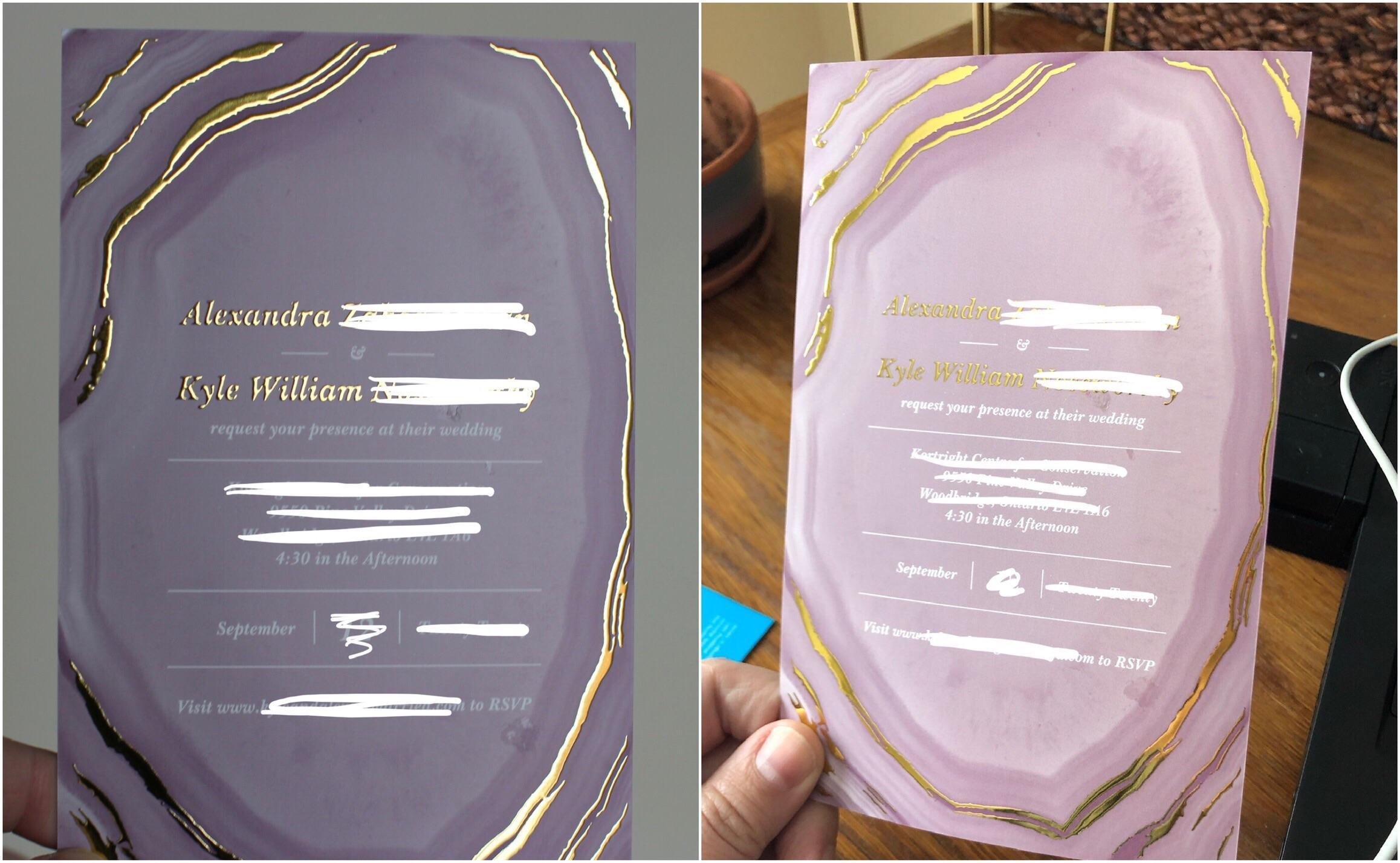vistaprint gold foil invites