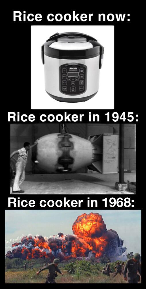Rice Cooker Meme : cooker, Evolution, Cooker, HistoryMemes