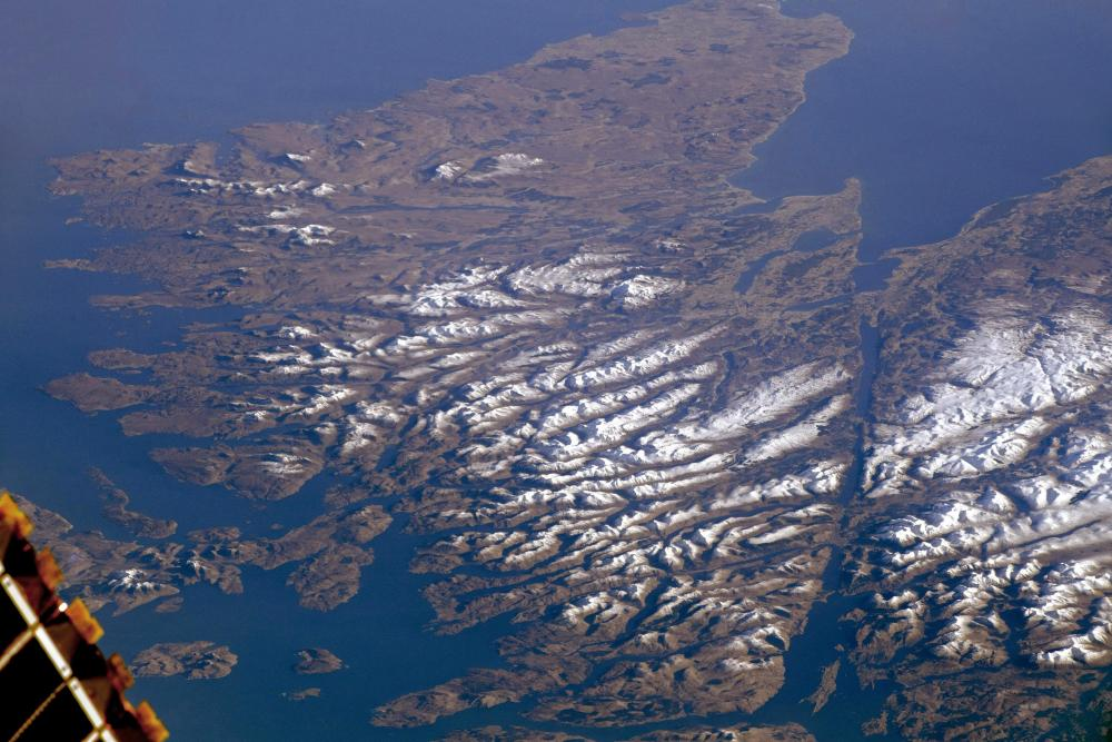 Scottish Highlands from the International Space station