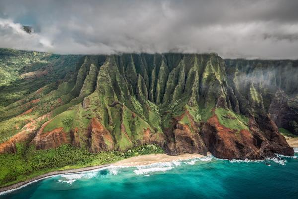Na Pali Coast Cathedrals. Kauai Hawaii. Oc 5090 X 3394px Earthporn