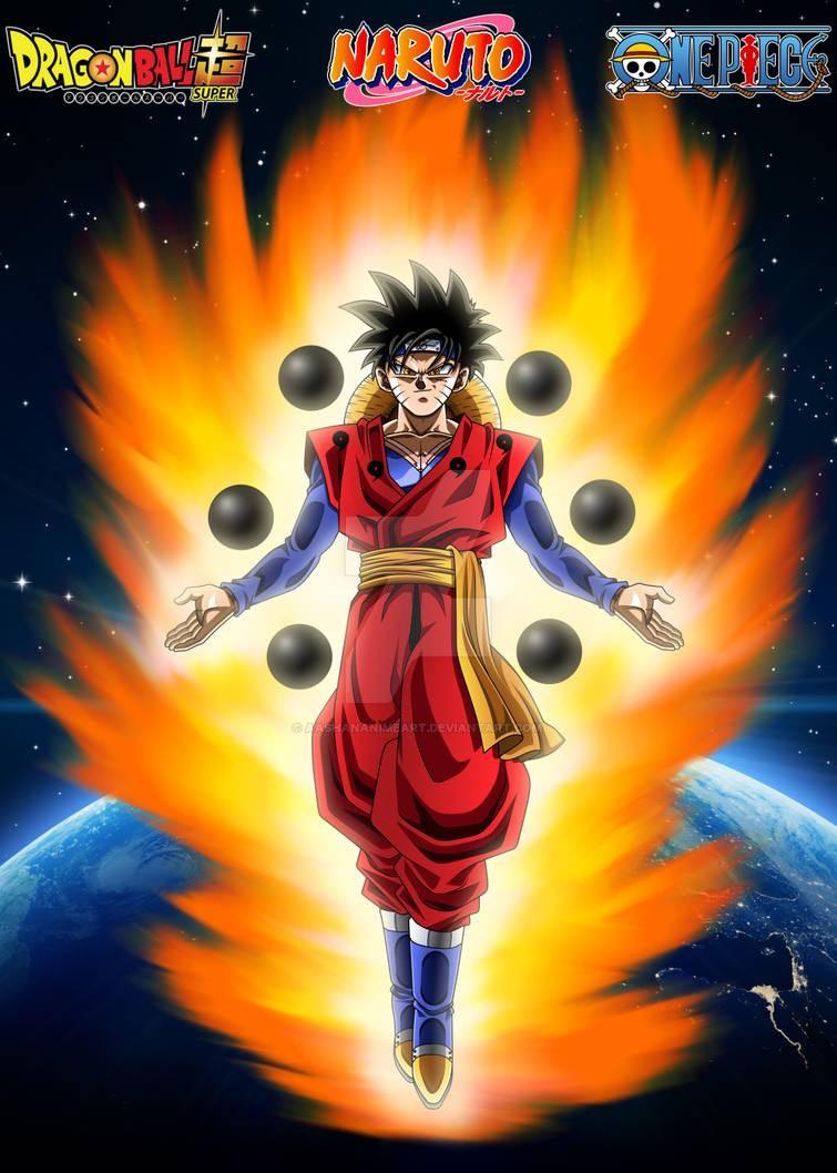 I liked naruto vs sasuke part 2 better, absolutely perfect in the anime. Goku Naruto And Luffy Fusion A T5 2b7hza