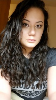 asian with wavy curly hair