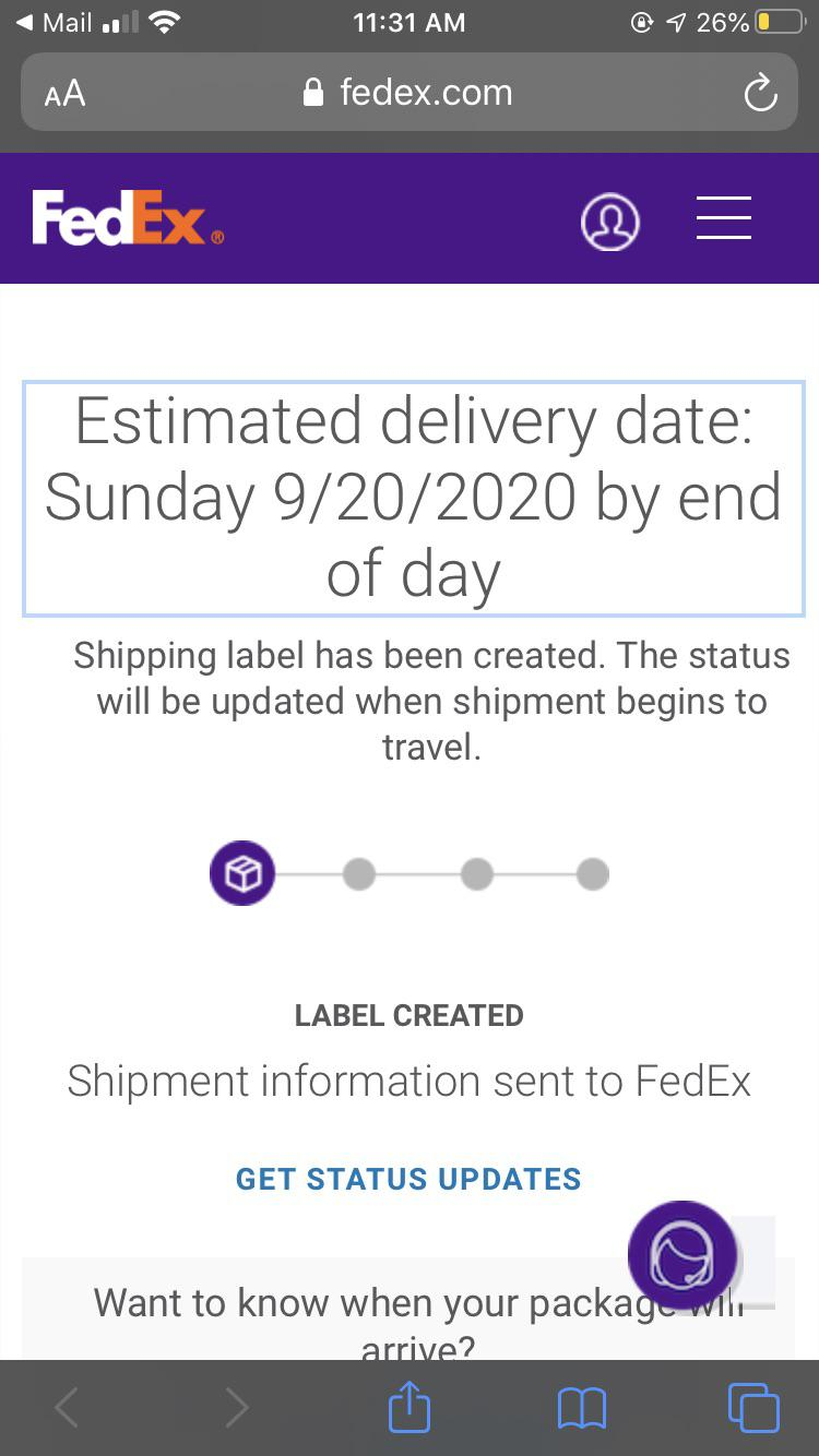 Fedex Label Created But Not Shipped : fedex, label, created, shipped, Package, Estimated, Delivery, Today, Still, Shipping, Label, Created, Hasn't, Shipped, Anyone, Anything, About, This?, FedEx