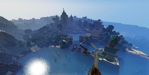Epic medieval port city I m a week into the making of RP: Thalyrus SP: Sildur s : Minecraftbuilds