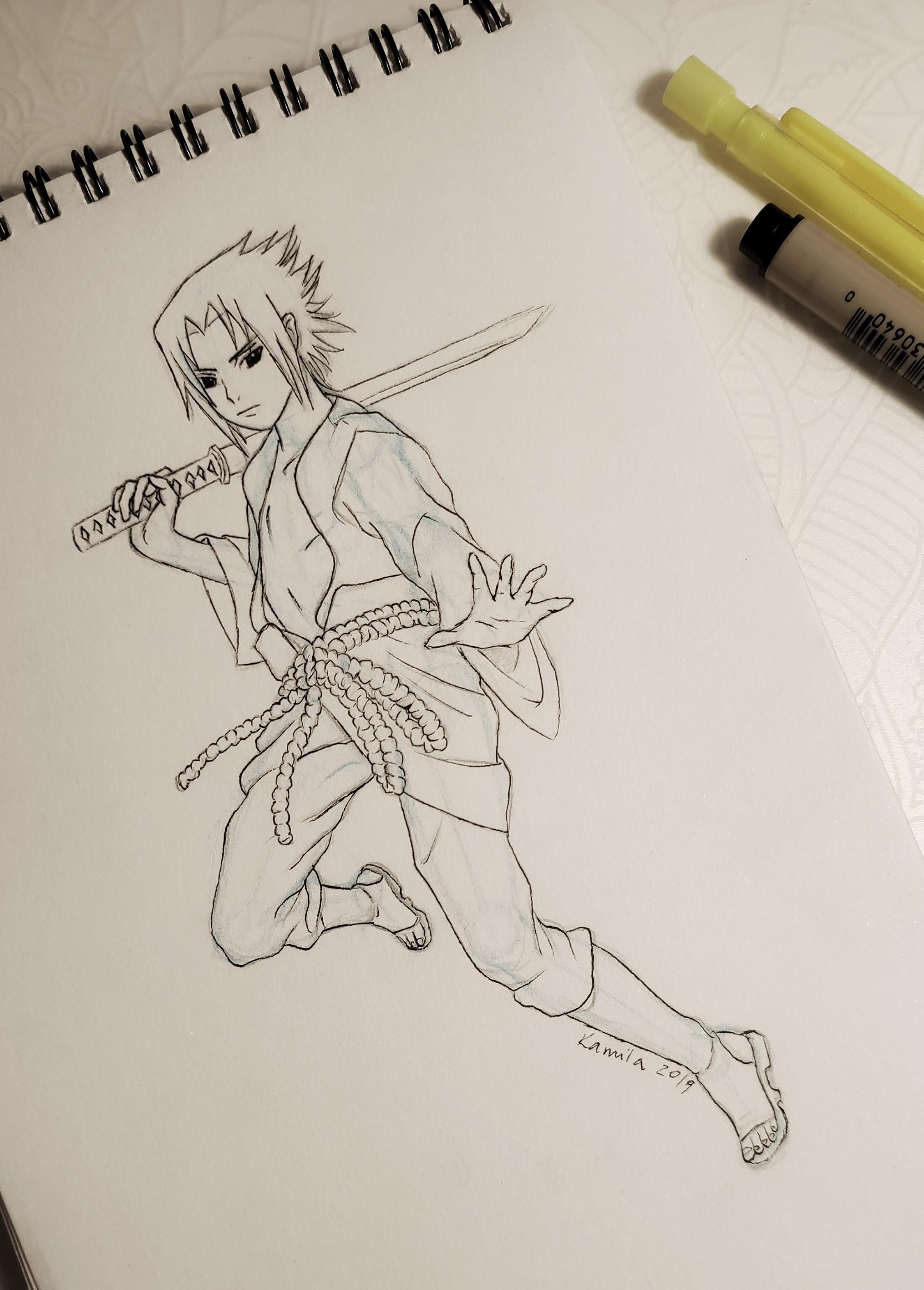 Full Body Sasuke Drawing : sasuke, drawing, Boyfriend, Asked, Sasuke, After, Really, Break, Drawing., Constructive, Criticism., Naruto