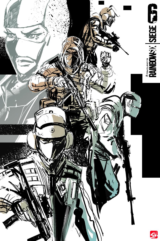 rainbow 6 siege commission poster art