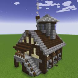 Small medieval house : Minecraftbuilds