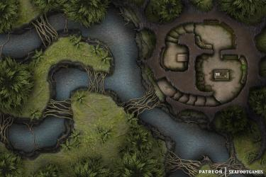 FREE Druid s Abode 30x20 Battlemap! [OC] : Roll20