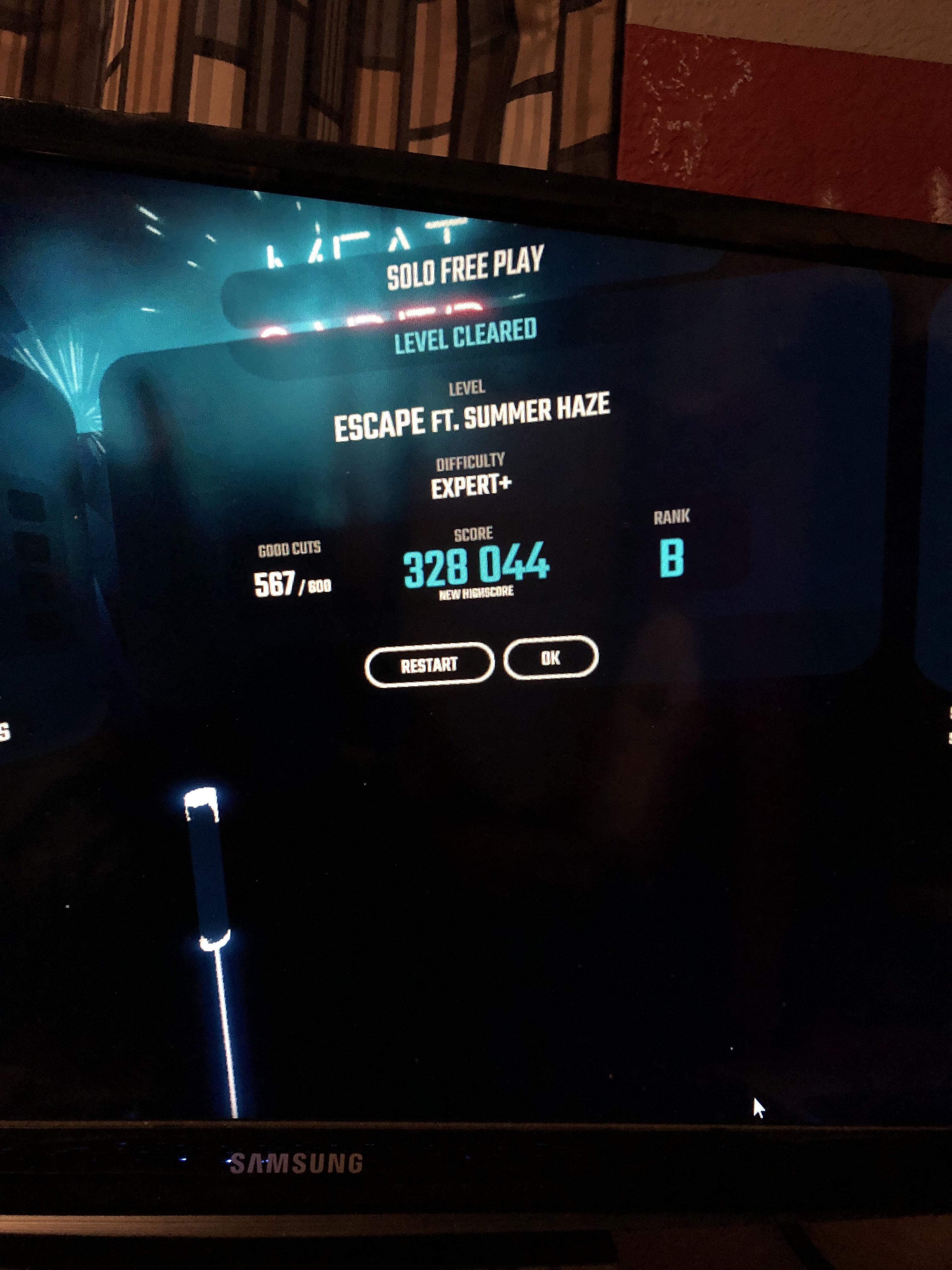 i finally beat my