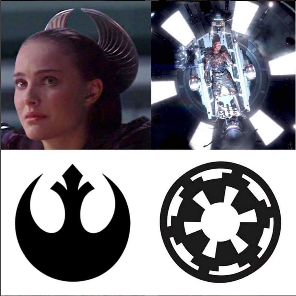 padme and vader represent