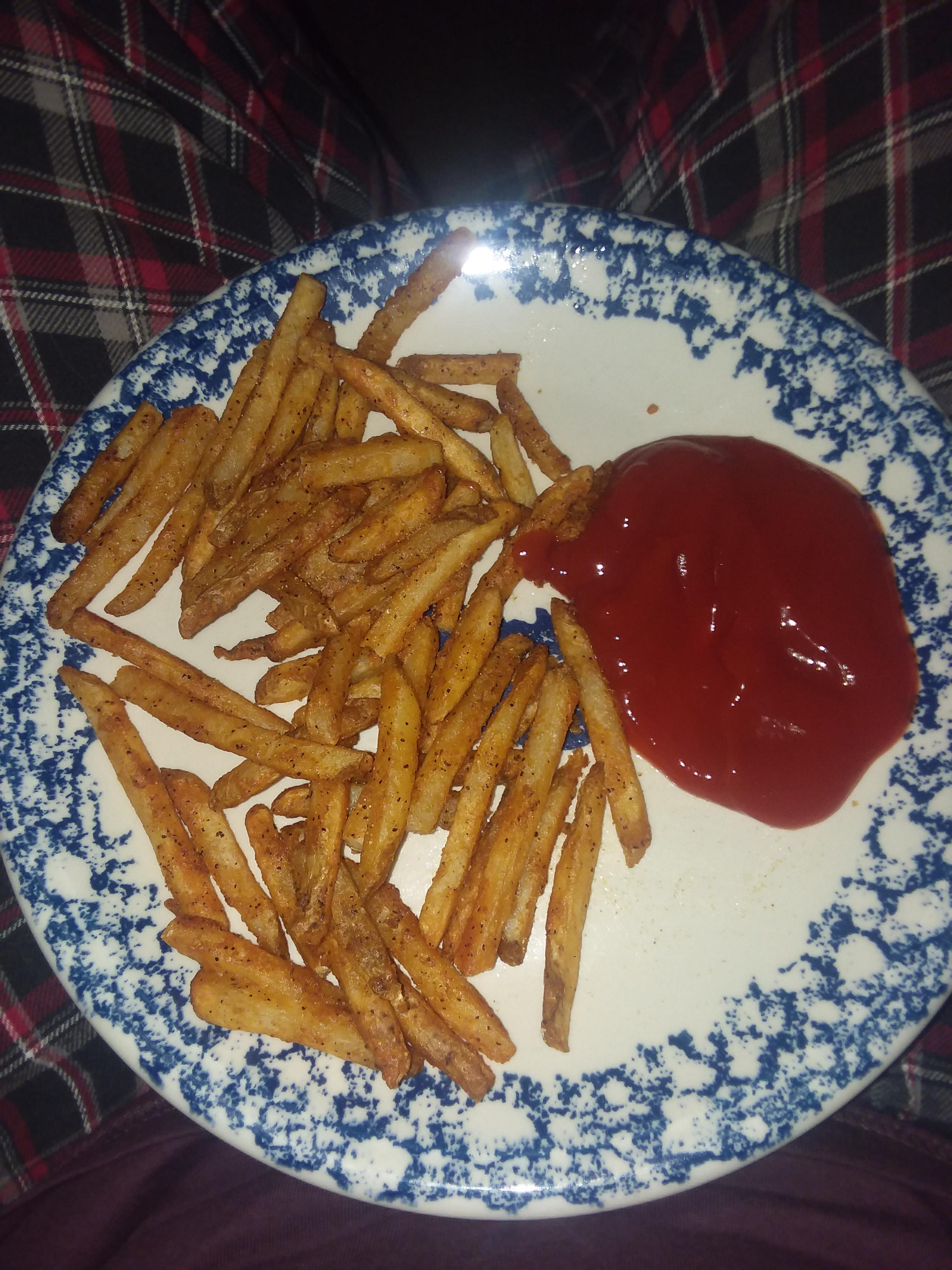frozen french fries with seasoned salt