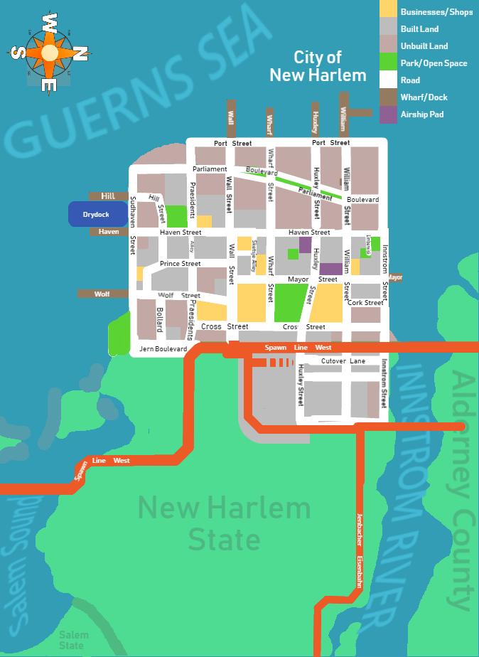 Minecraft New York City Map : minecraft, Updated, Harlem, Environs:, Multiplayer, Minecraft, City., Imaginarymaps