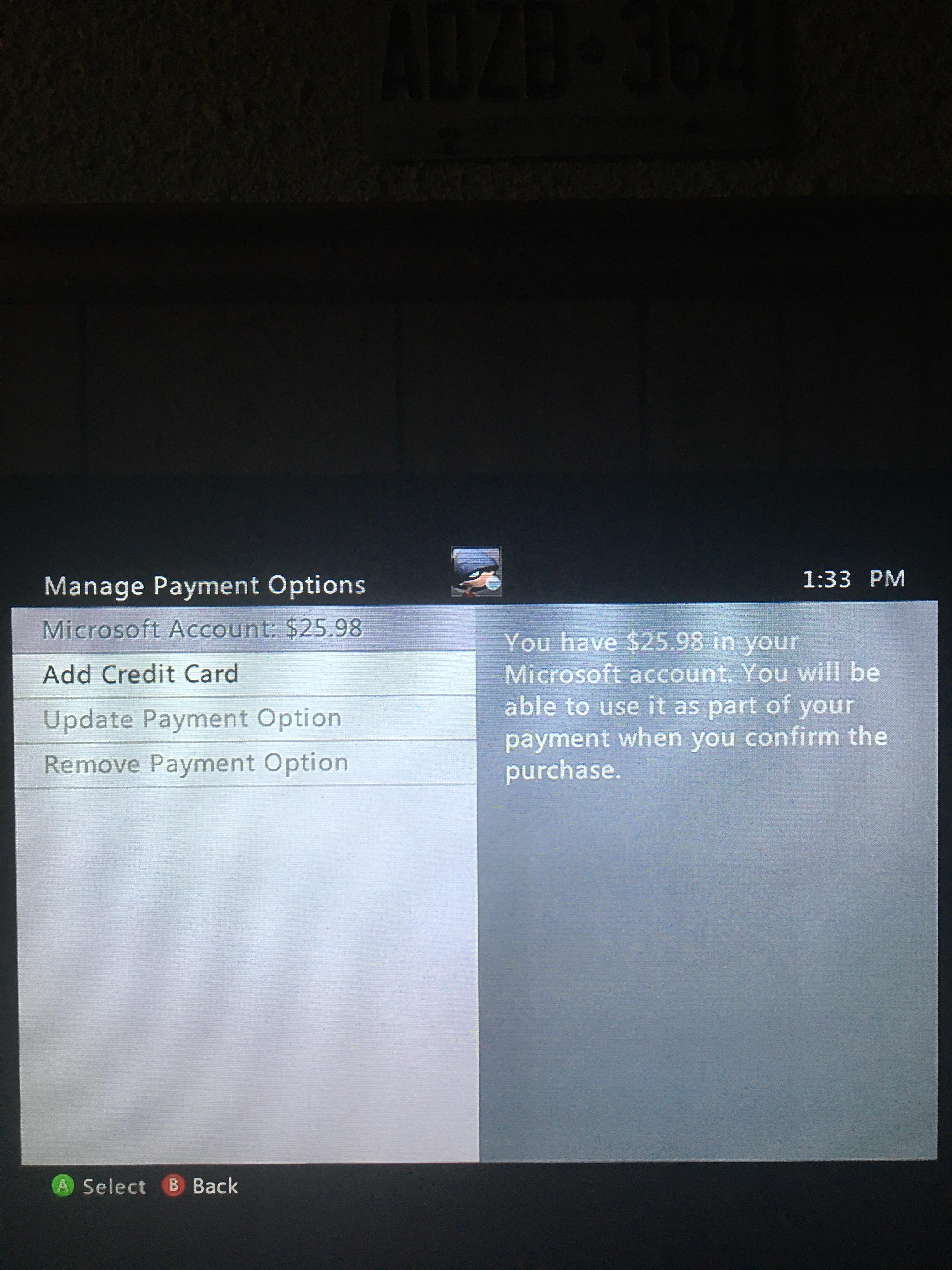 How To Remove A Credit Card From Xbox : remove, credit, Can't, Select, Balance, Payment, Option, Enough, Paying, Month!, Help.
