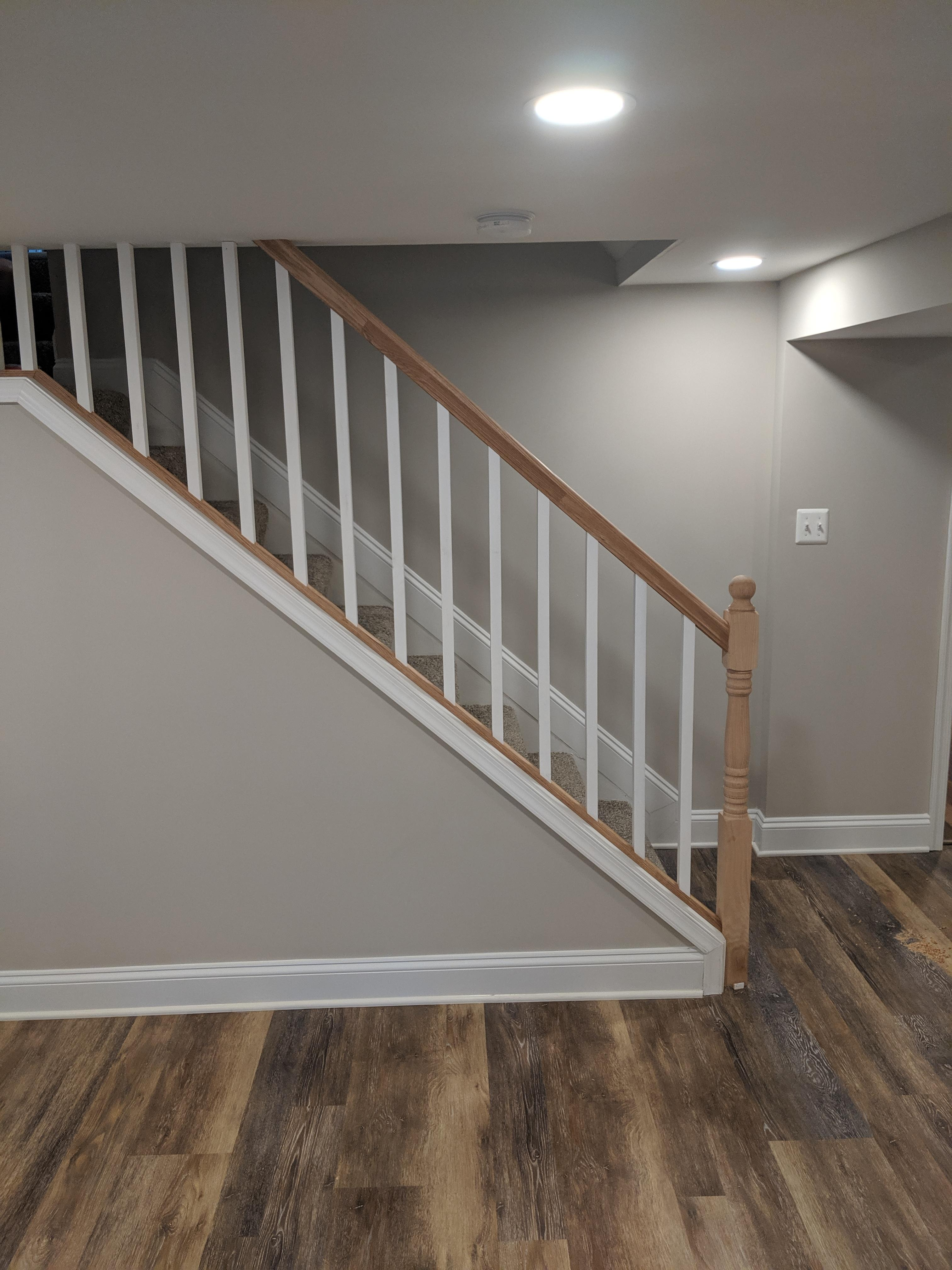 First Time Building An Interior Stair Railing I M About 80 | Interior Stairs And Railings | Traditional | Living Room | Crystal | Rectangular Tube | Inside