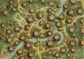 Elven Tree City : dndmaps