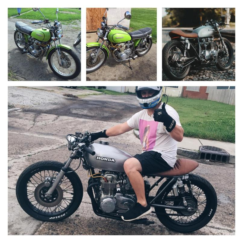 Before After Cb550 My 1st Build On