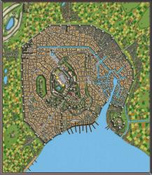 Coastal city with removed labels : dndmaps