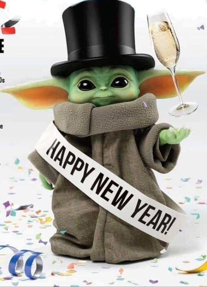 Baby Yoda Good Vibes : vibes, Happy, Years, Everyone., Force, 😁:, MadeMeSmile