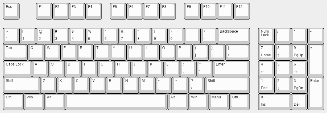 do keyboard layouts like this exist? : MechanicalKeyboards