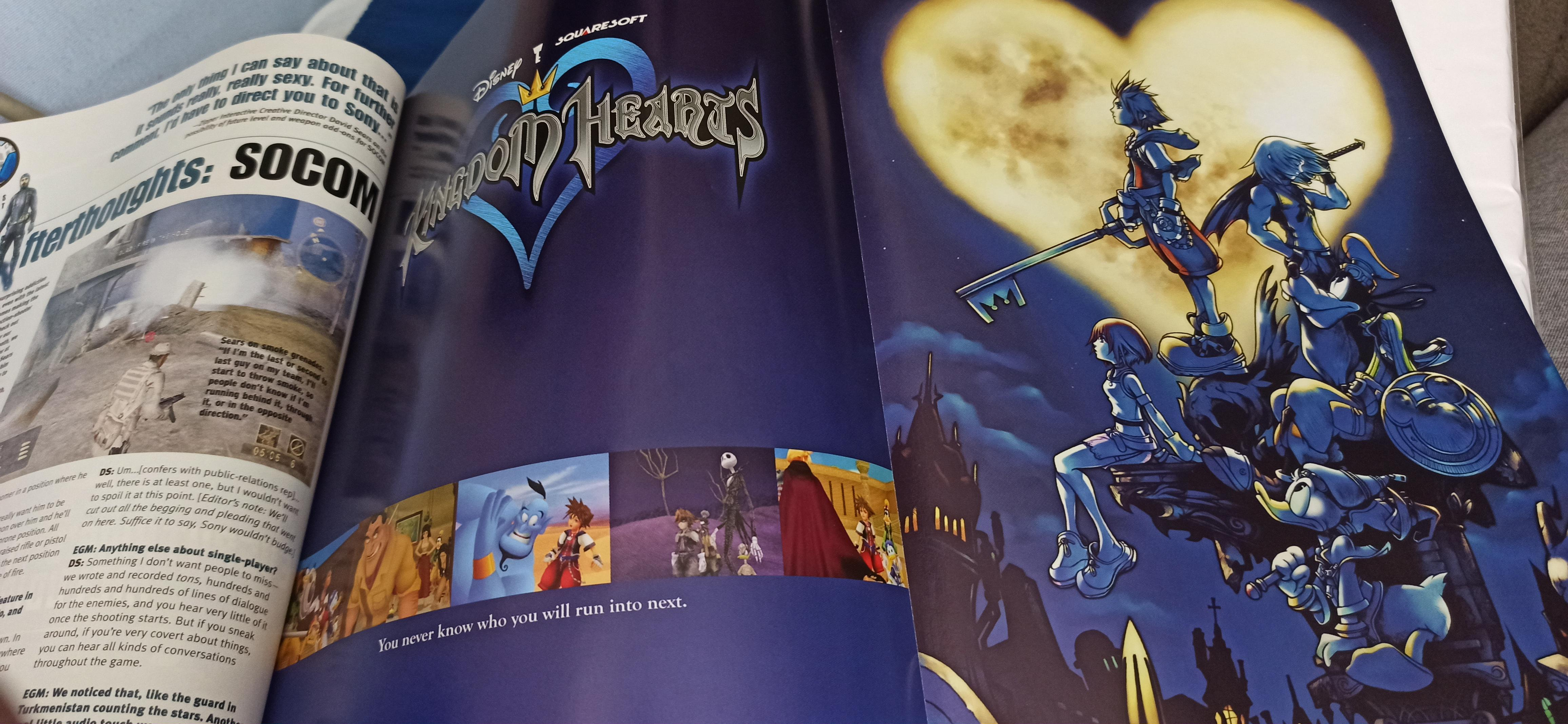 kingdom hearts poster in the october