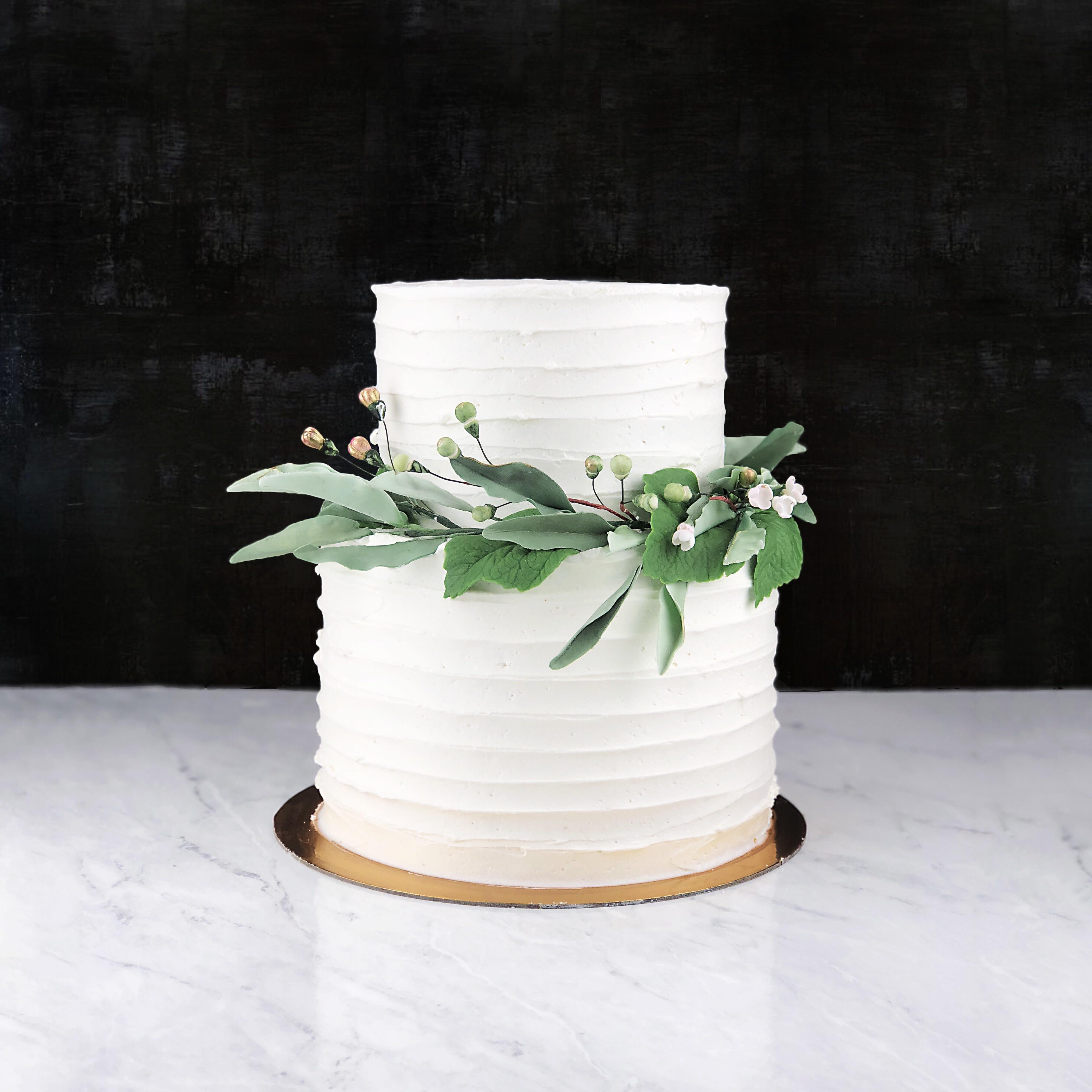 Simple Bridal Shower Cake For My Cousin Butter Cake Soaked In