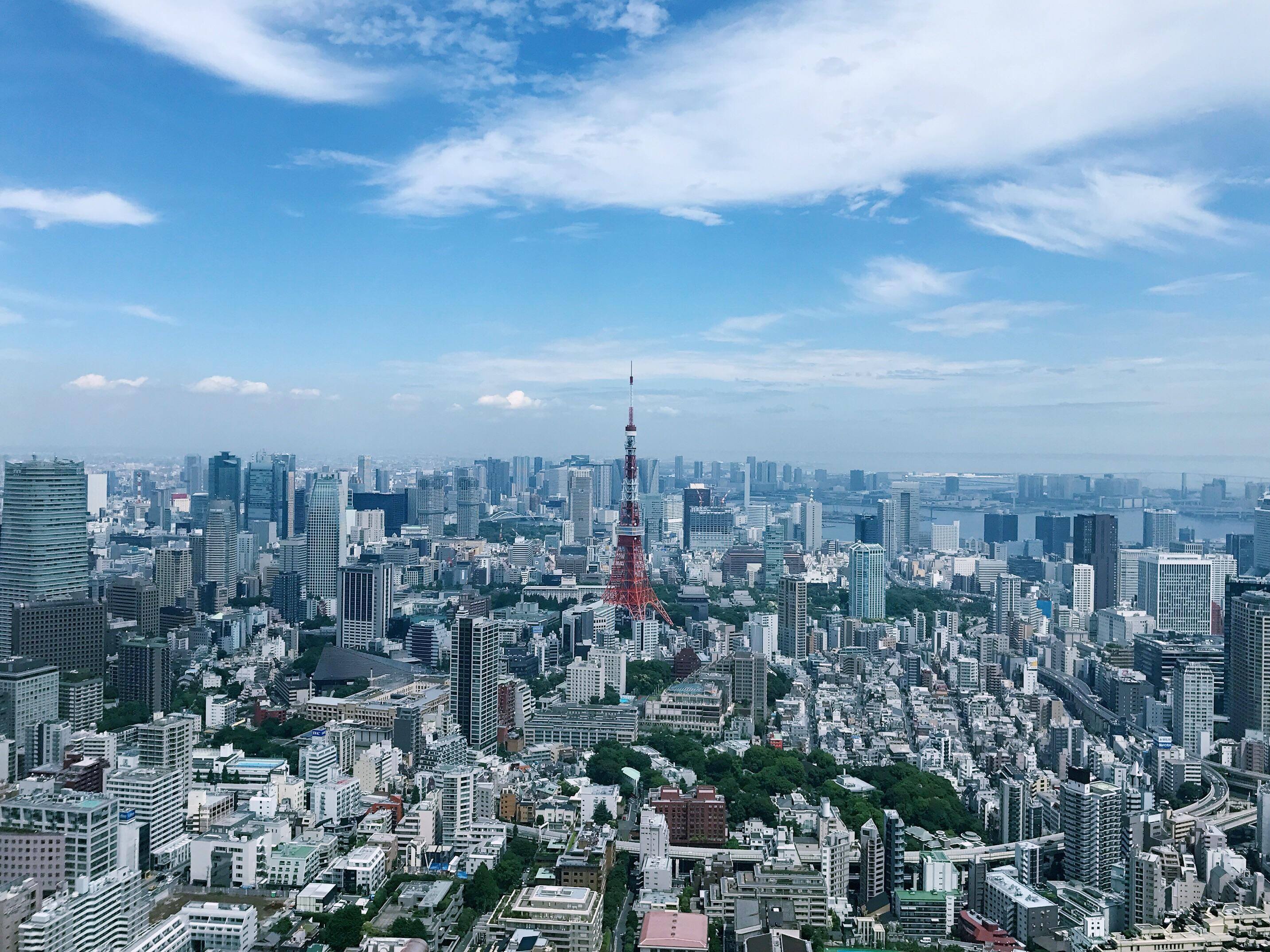 tokyo skyline from the