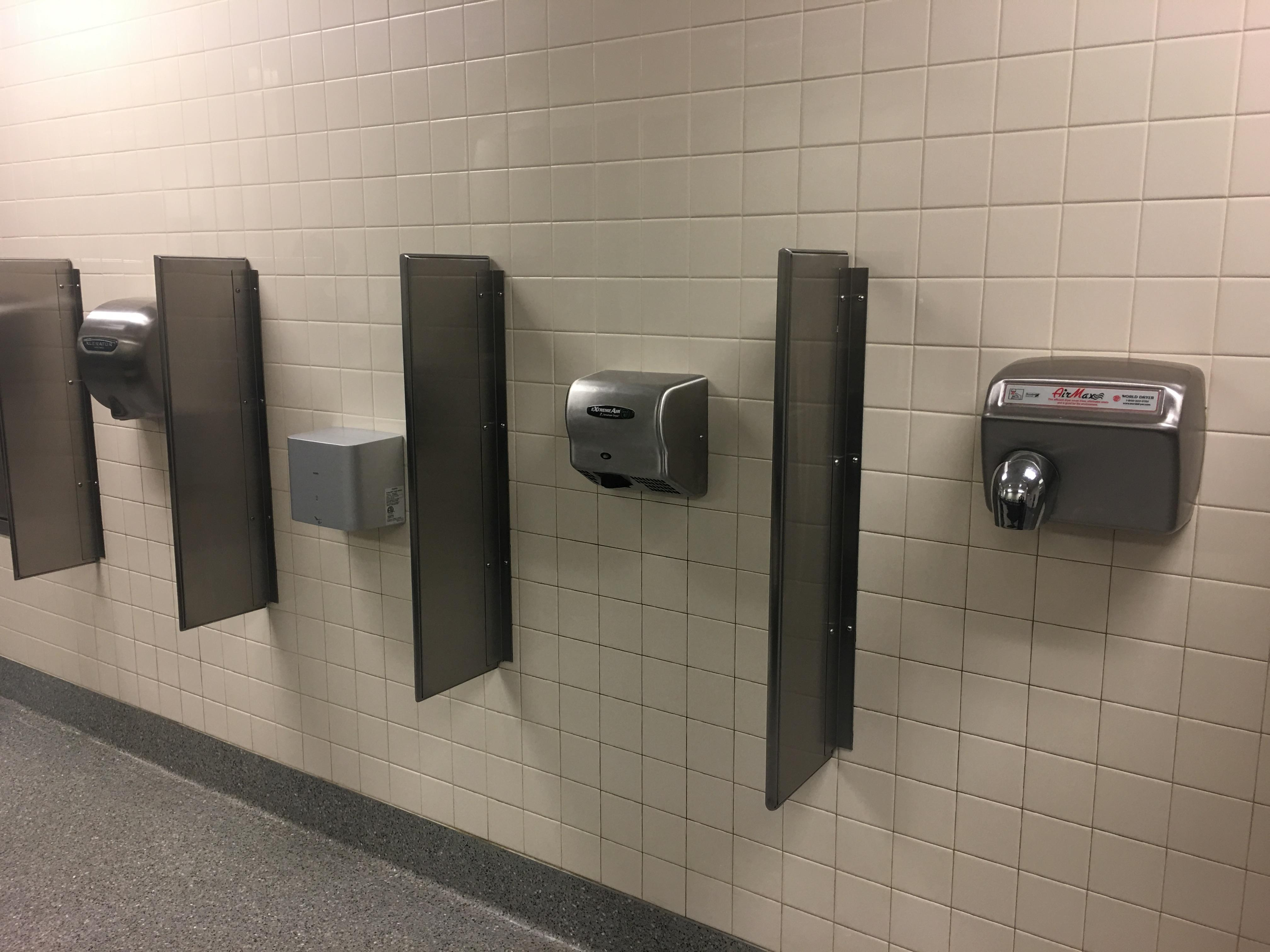 Bathroom in the Portland airport has 4 different types of