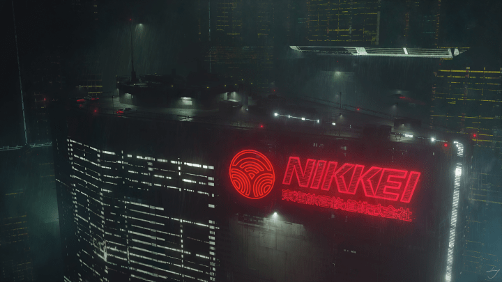 Nikkei Rooftop Parking Lot by Swang [3840×2160]