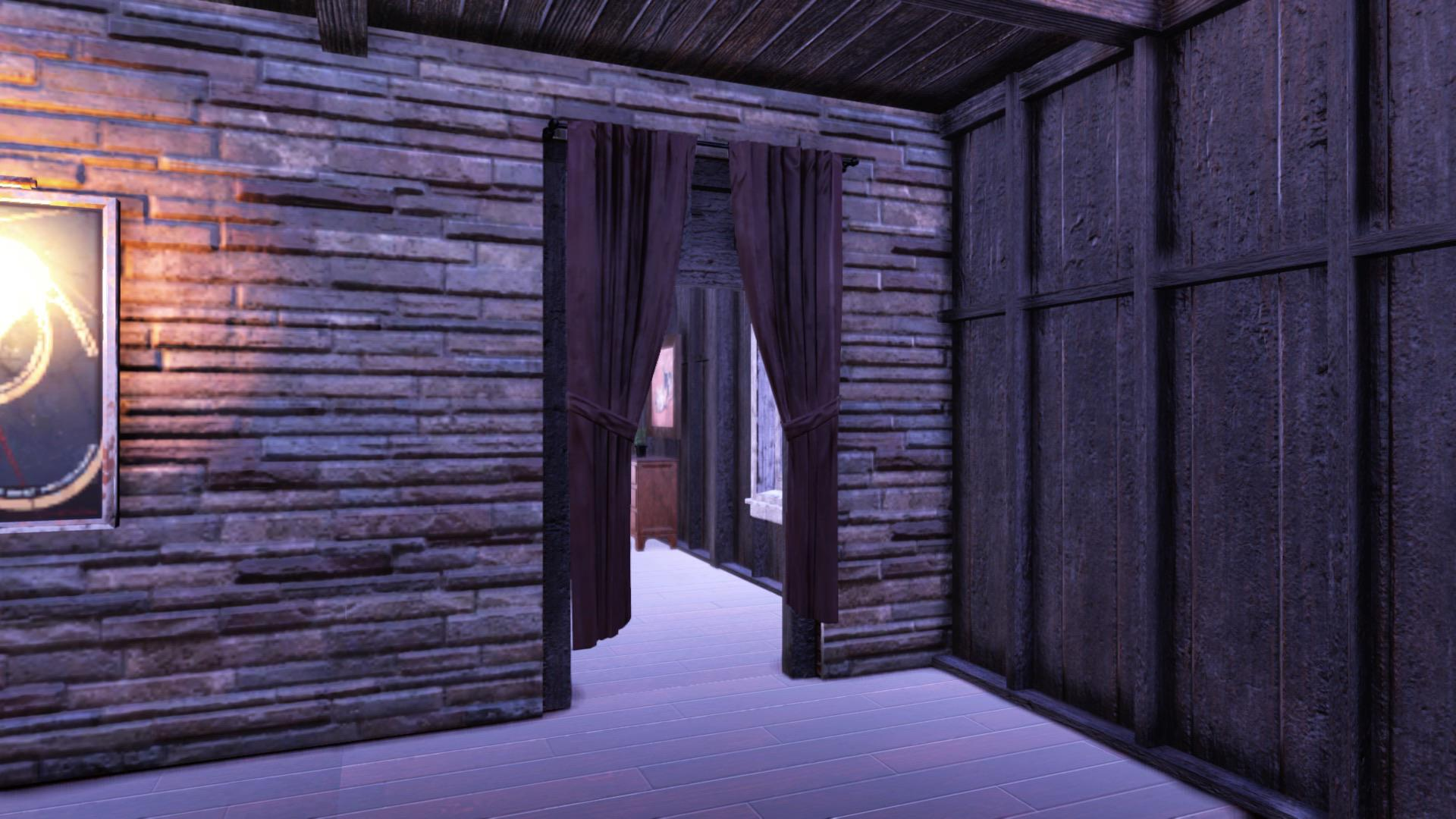 curtains work really well on open door