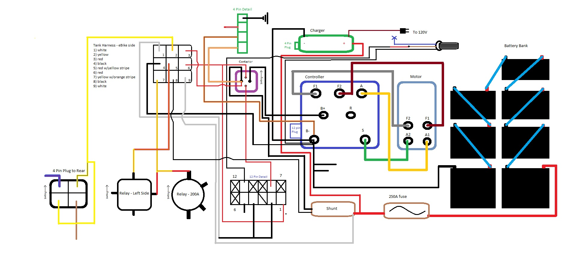 Razor Electric Scooter Electrical Diagram Ebike Wiring Diagram V2 College Project Ebikes