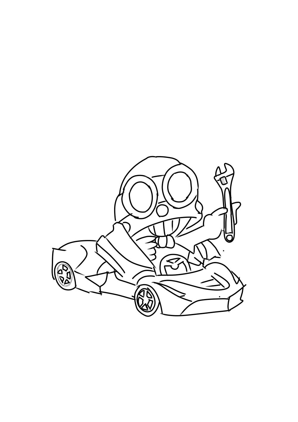 [Idea] Race Carl. sorry im bad at drawing : Brawlstars