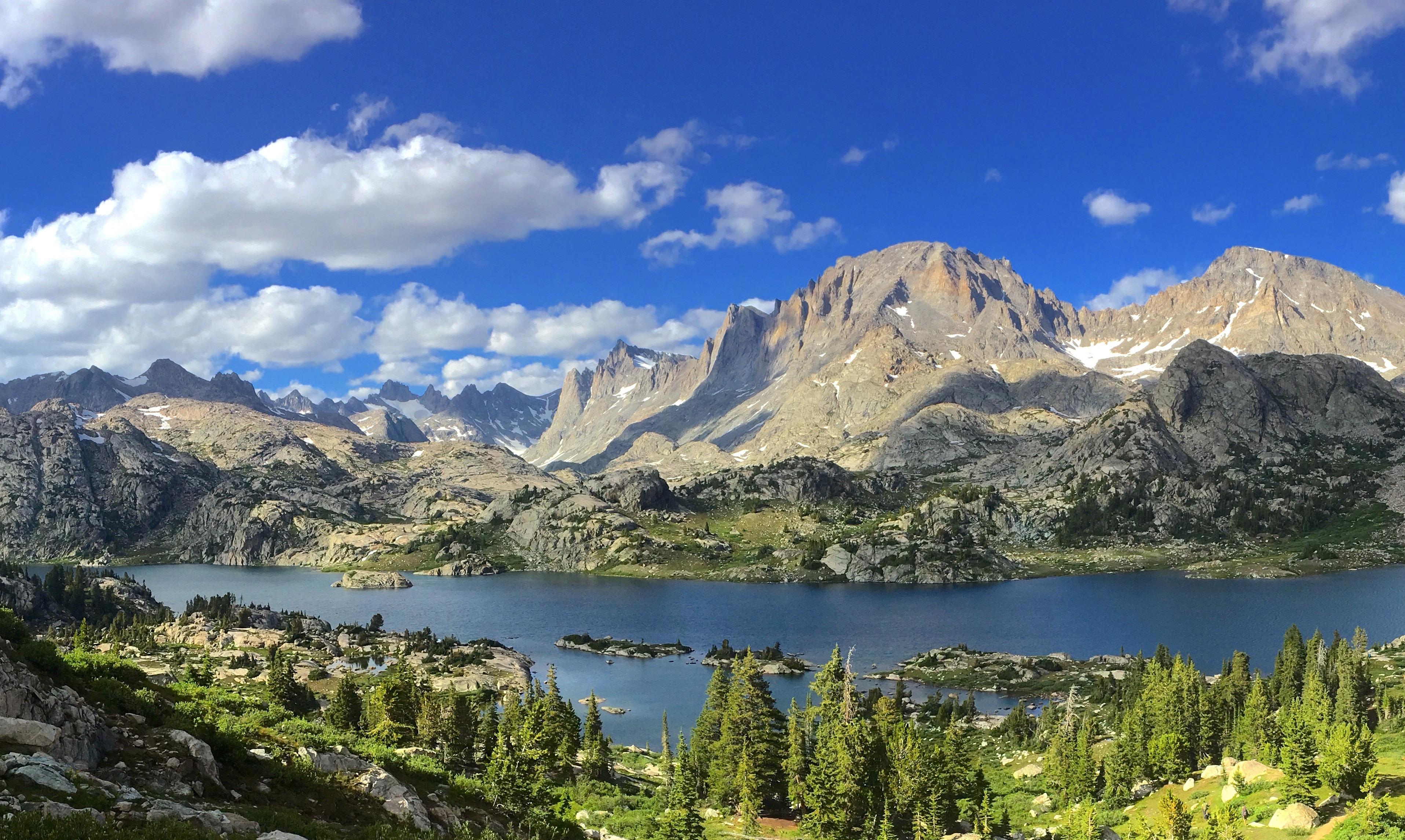 Island Lake Deep In The Wind River Mountains Of Wyoming