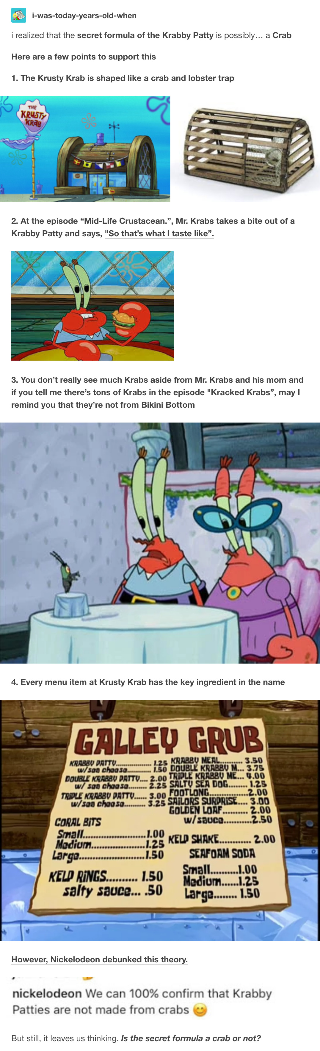 Spongebob Secret Formula : spongebob, secret, formula, Krabby, Patty, Secret, Formula, ShittyFanTheories