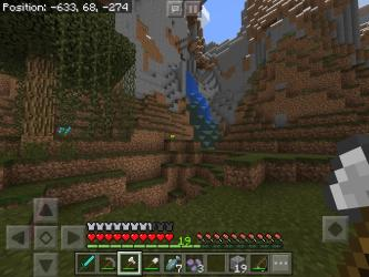 Found a very cool two tone waterfall What should I do with it? I m thinking of a fairy mushroom house : Minecraft