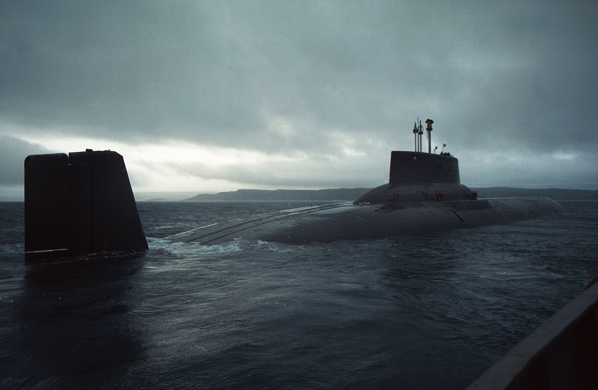 project 941 akula/typhoon class - this picture reminds me of