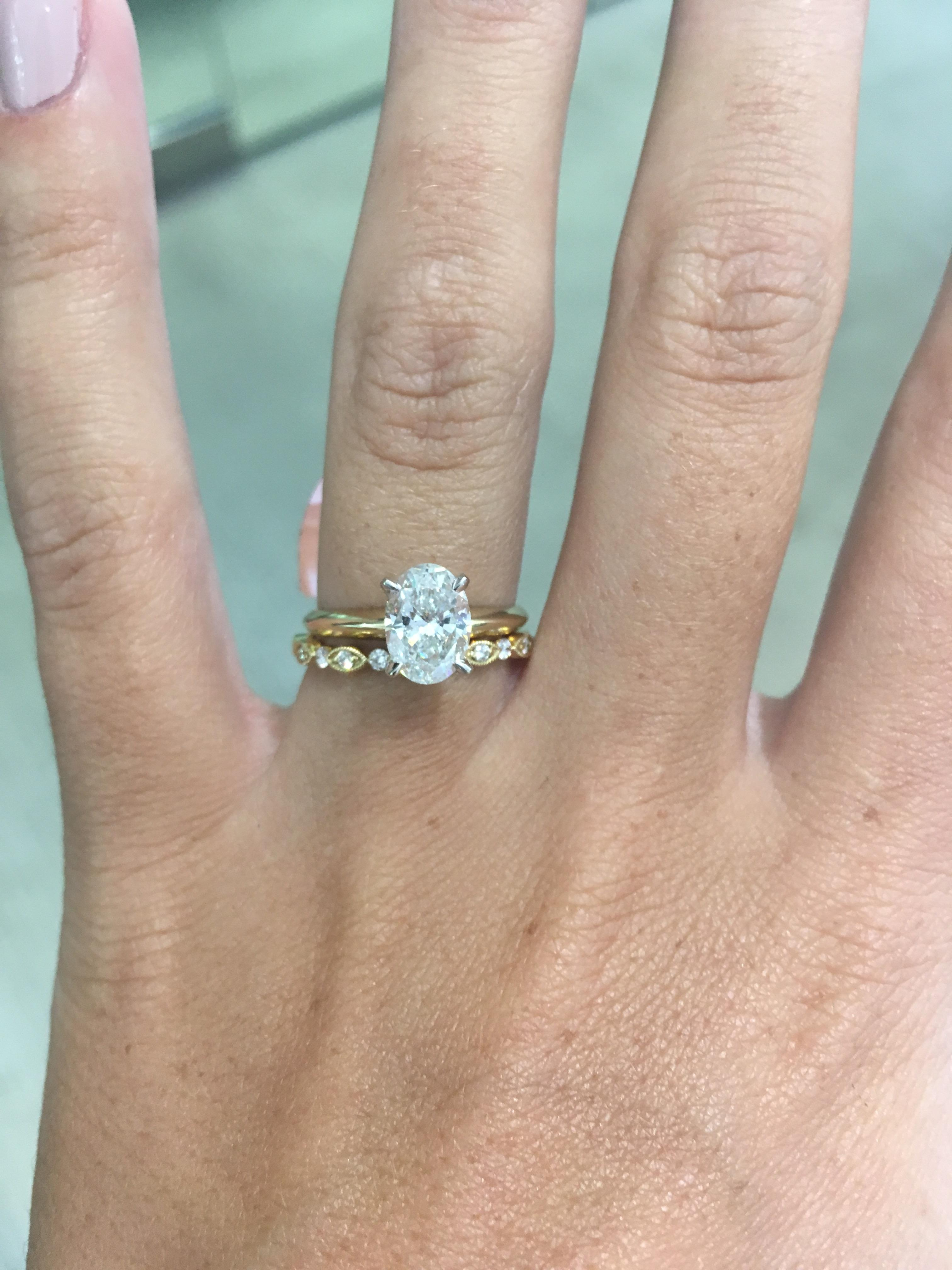 Picked Out My Dainty Wedding Band Today!  Weddingplanning