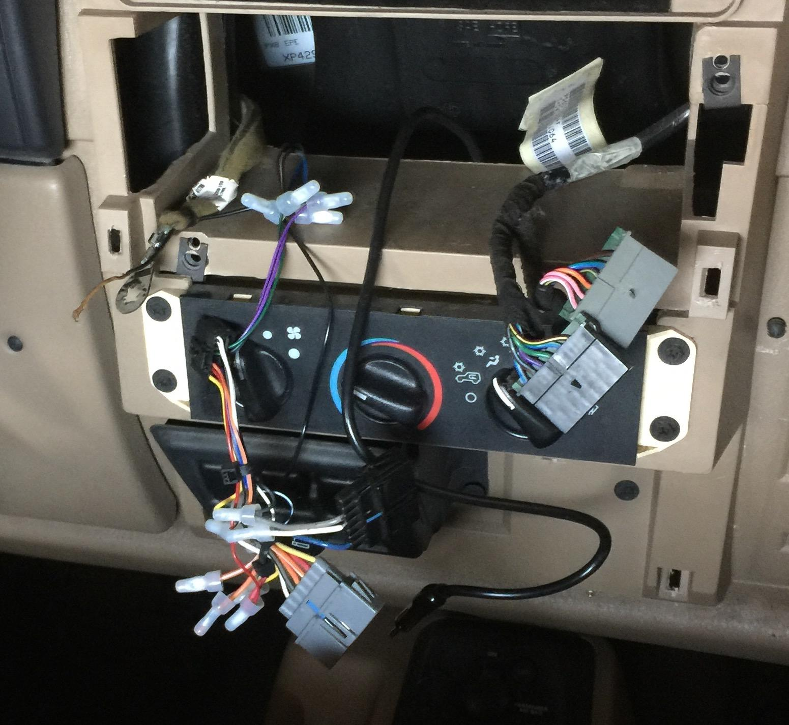 hight resolution of bad wiring job in a 99 wrangler trying to rectify and get it working