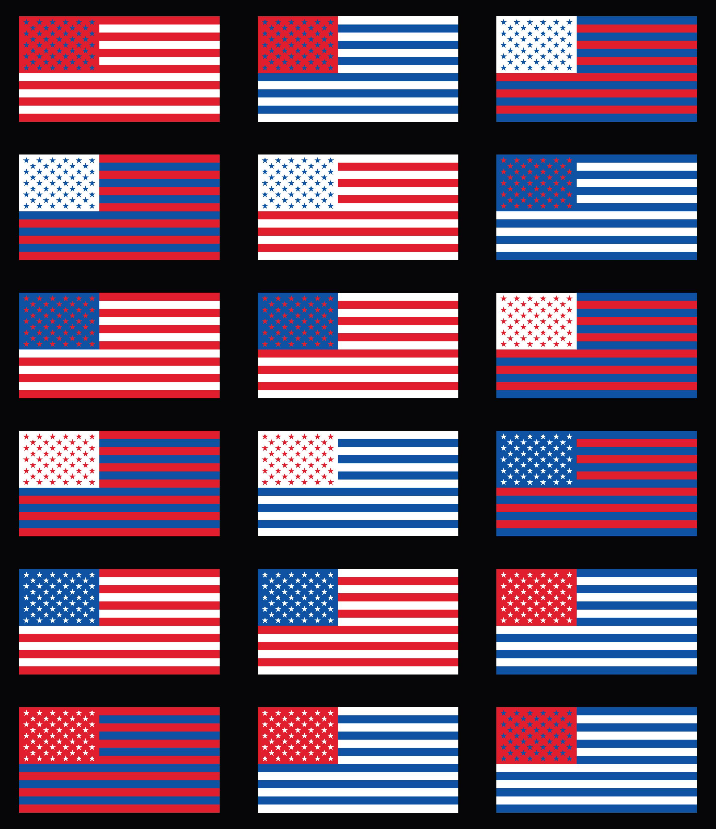 Flag Of Usa With Inverted Colors Vexillology