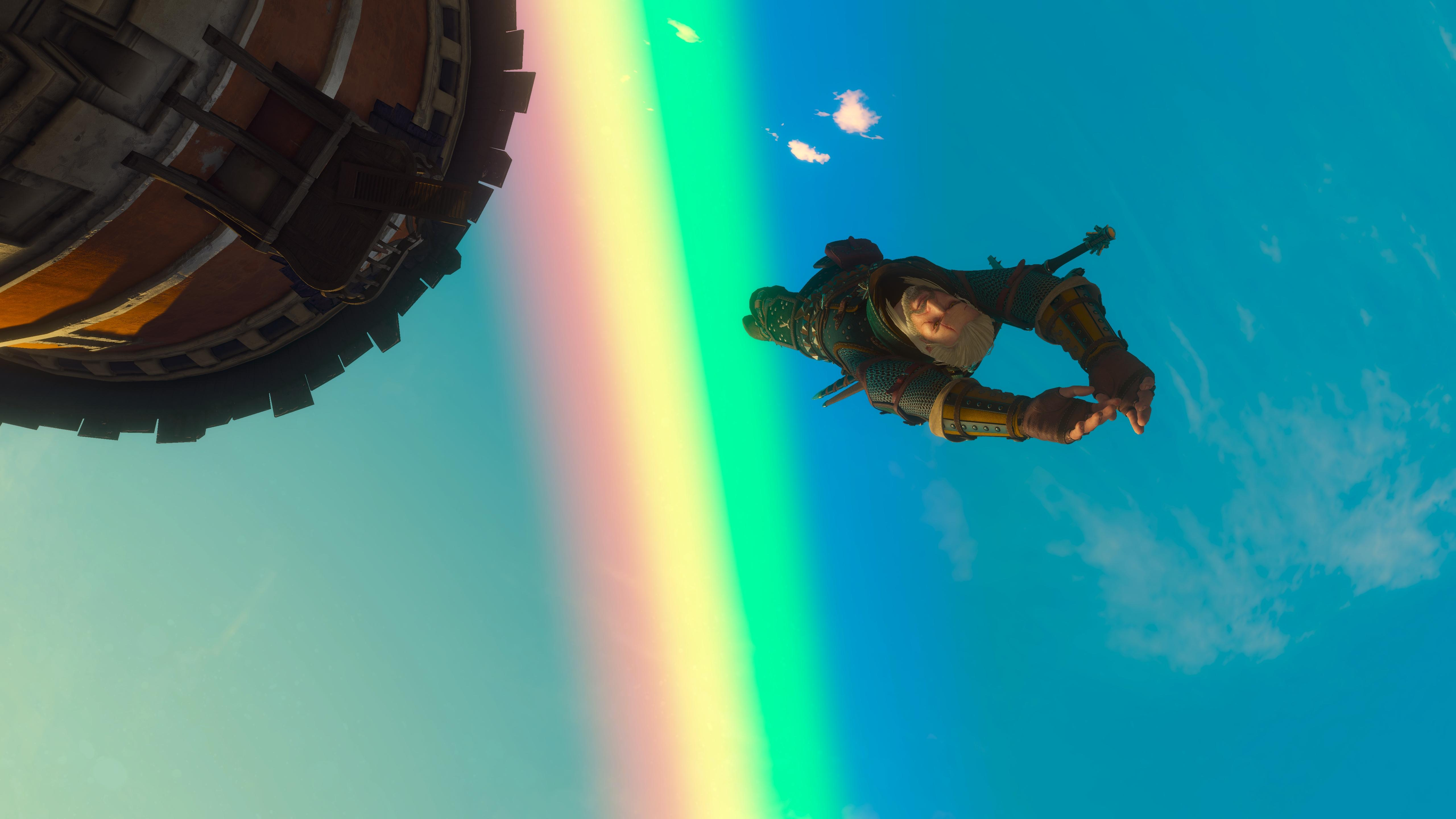 Gary flying over the rainbow : witcher