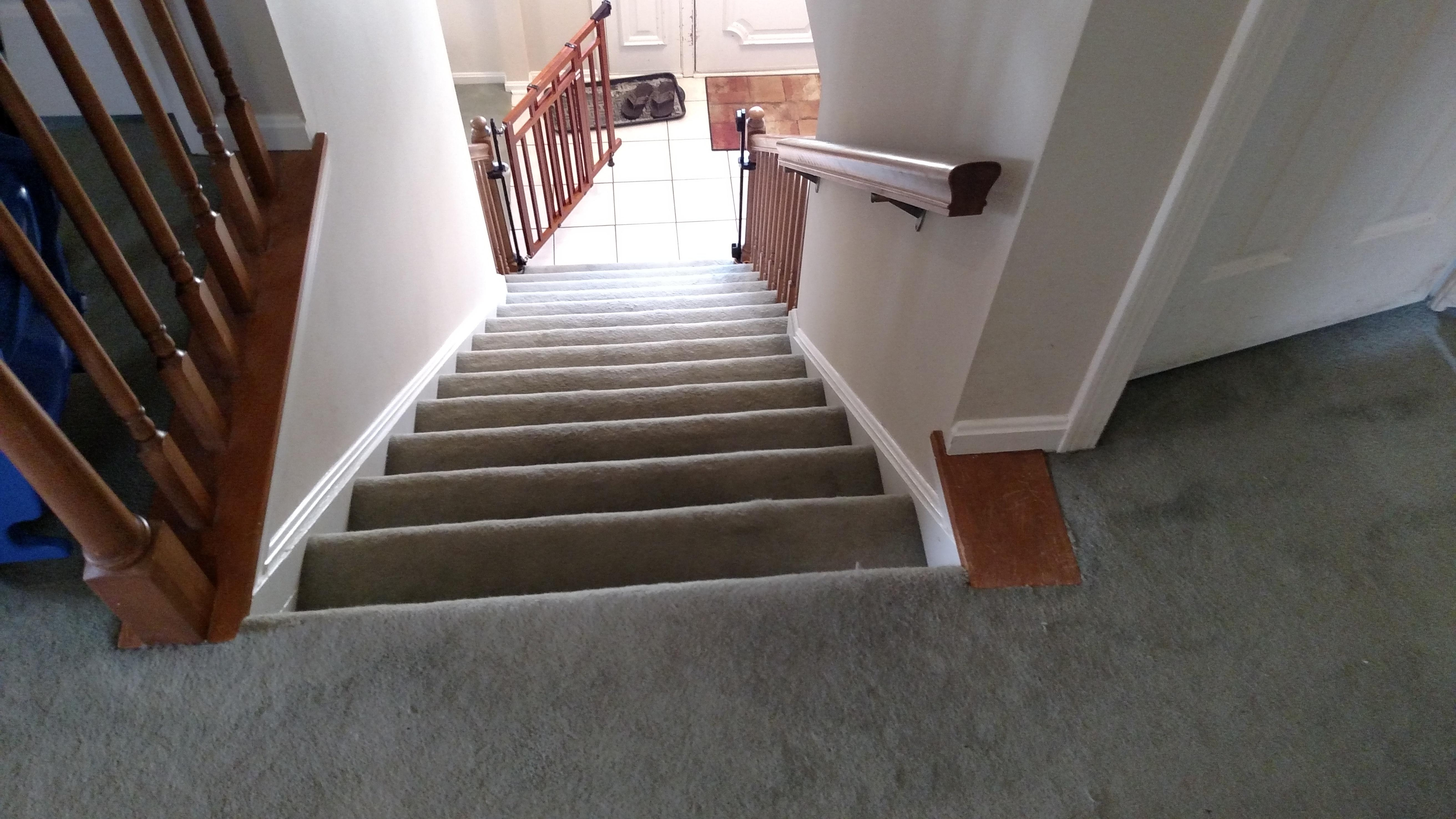 Need Suggestions For Baby Gate At Top Of Stairs The Wall Stops | Top Of Stairs Banister | High End | Indoor | Barn Beam | Redo | Glass