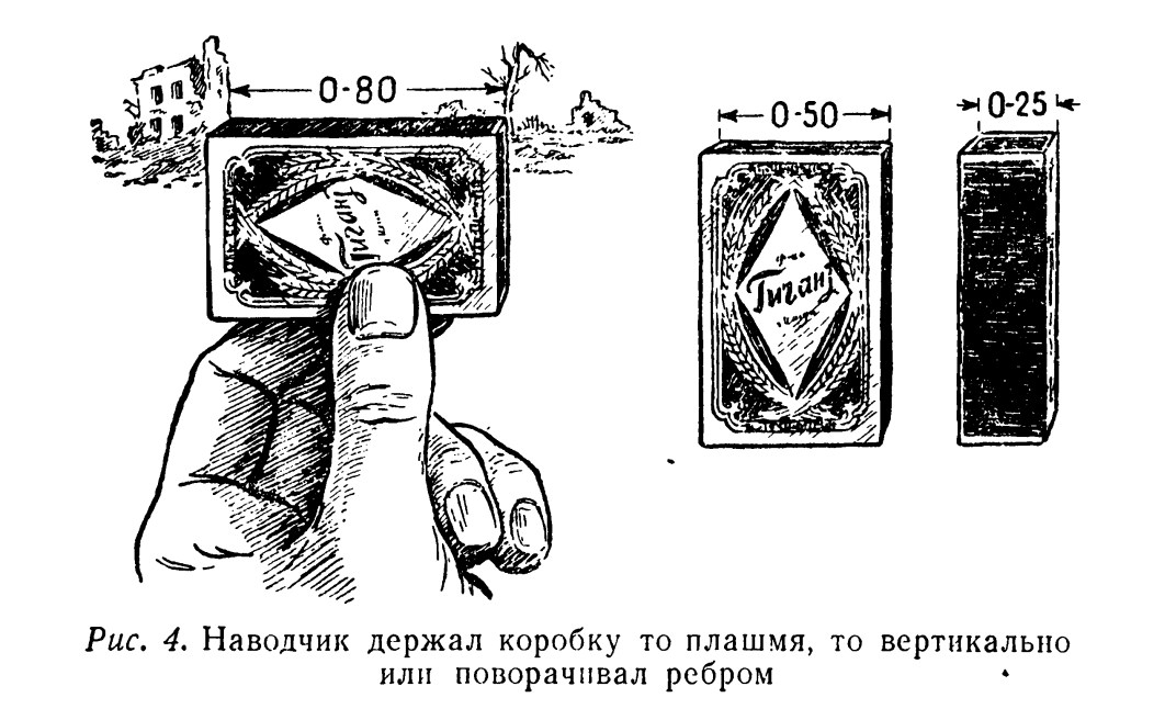 Soviet manual showing how a matchbox can be used by a
