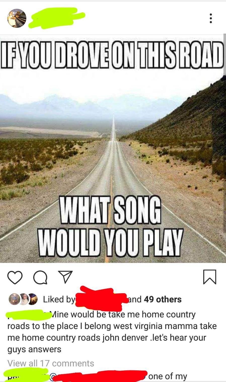 country roads oldpeoplefacebook
