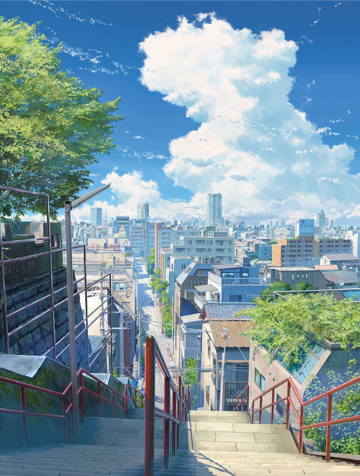 Anime Skyline : anime, skyline, Stair, Anime,